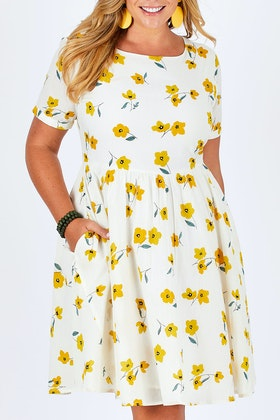 handpicked by birds Printed Fit And Flare