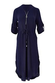 The Zip Front Midi Dress