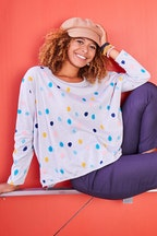 handpicked by birds Long Sleeve Spot Top