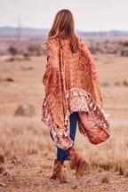 boho bird Open Plains Kimono Throw