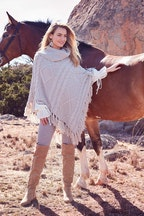 boho bird At The River Crossing Poncho