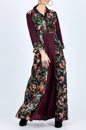 boho bird Meadow Walk Maxi Dress