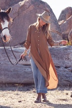 boho bird On The Open Road Maxi Shirt