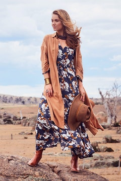 Winter Bloom Maxi Dress