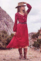 boho bird Dance Night Dress