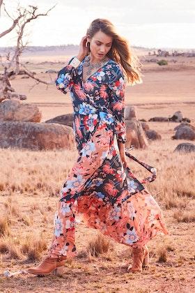 boho bird Wild One Maxi Dress