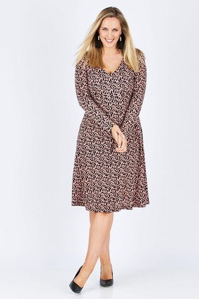 Belle bird Belle Salmon Circles Dress