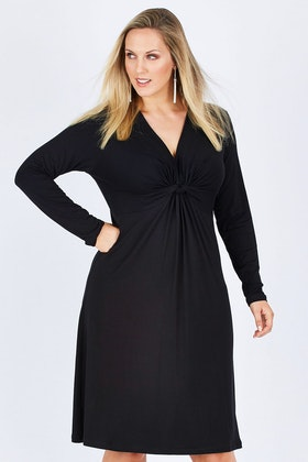 Belle bird Belle Jersey Knot Front Dress