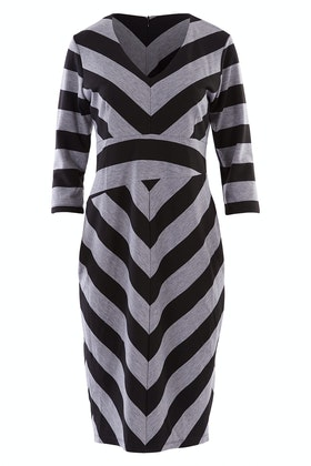 Belle bird Belle Chevron Stripe Dress