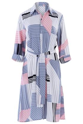 Belle bird Belle Pink Squares Shirt Dress