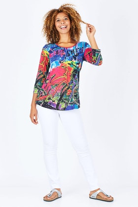 Orientique Amalfi Print Tee