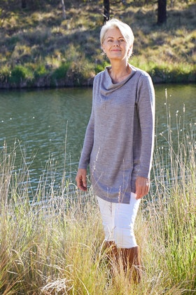 Natural for birds Merino Wool Crossover Knit