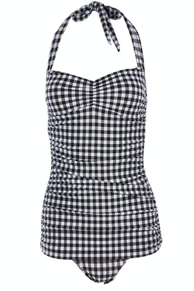 Esther Williams Swimwear Gingham Classic Sheath One Piece