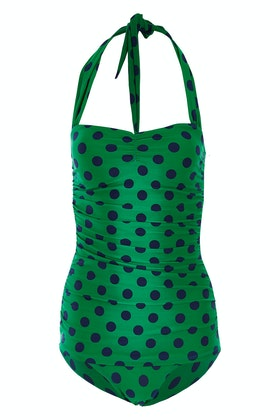 Esther Williams Swimwear Polka Dot Classic Sheath One Piece
