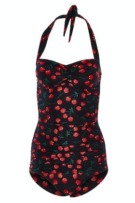 e9694c46b8049 Esther Williams Swimwear Cherries Delight Classic Sheath One Piece