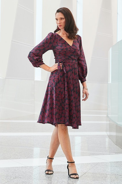 Sacha Drake Tina Wrap Dress - Womens Calf Length Dresses - Birdsnest ... 1183c5ff2