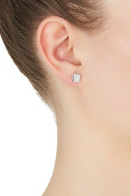 Square Stud Sterling Silver Earring