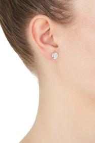 Double Beat Sterling Silver Earrings