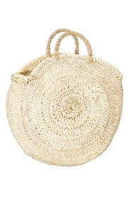Northern Palm Leaf Round Basket With Handle