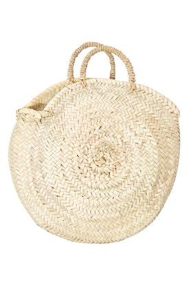 2 Duck Trading Northern Palm Leaf Round Basket With Handle