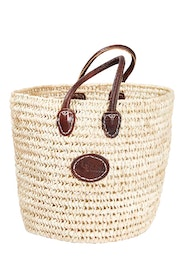 Oversize Round Open Weave Handle Basket
