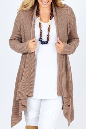 Natural for birds Cotton Cashmere Waterfall Cardigan