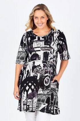 Orientique Amalfi Print Dress