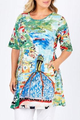 Orientique Church Print Dress