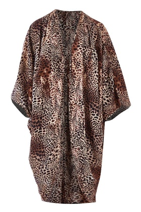 17 Sundays Leopard Print Kimono