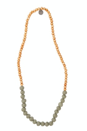 Greenwood Designs Mini Wood And Rock Necklace