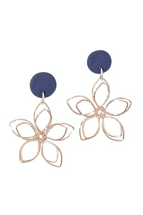 Greenwood Designs Handmade Flower Dangle Earrings