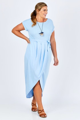 b1341d77c2c bird keepers The Short Sleeve Midi Wrap Dress