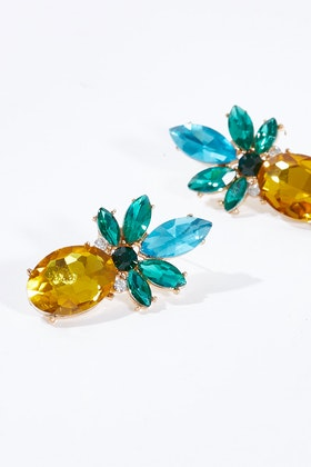 Greenwood Designs Pineapple Bling Earrings