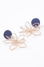 Handmade Flower Dangle Earrings