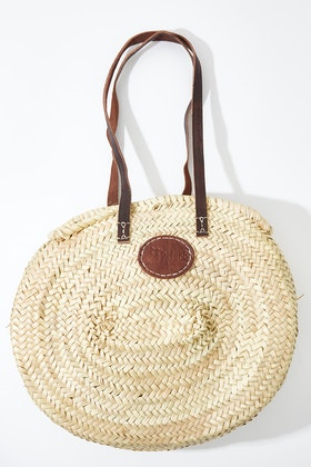 2 Duck Trading Northern Palm Leaf Oval Basket With Long Strap