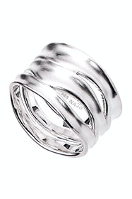 Sterling Silver Ripple Ring