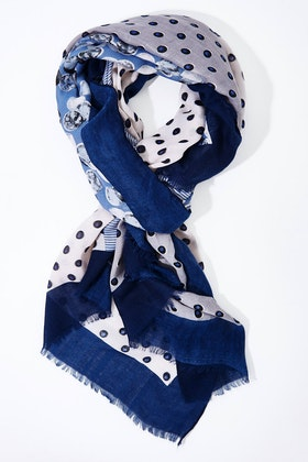 Greenwood Designs Polka Stripes Mix Scarf