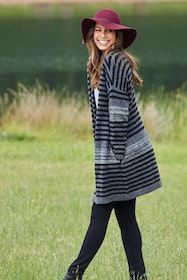 The Multi Stripe Cardi