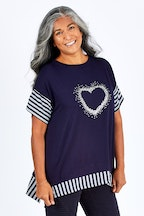 Clarity By Threadz Heart Spliced Top