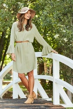 bird keepers The Bell Sleeve Shift Dress