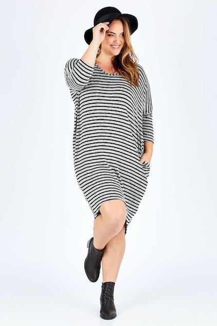 7d50e2611b bird keepers The Striped Everyday Tunic Dress - Womens Short ...
