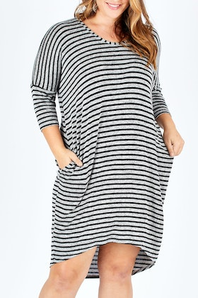 e9d590f2bd9 bird keepers The Striped Everyday Tunic Dress