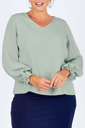 bird by design The Pleated Sleeve Top