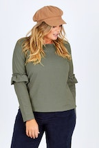 bird keepers The Ruffle Sleeve Sweat