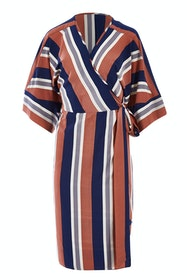 Belle Woven Stripe Kimono Dress