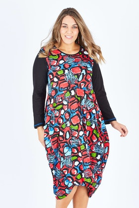 Orientique Matera Print Dress