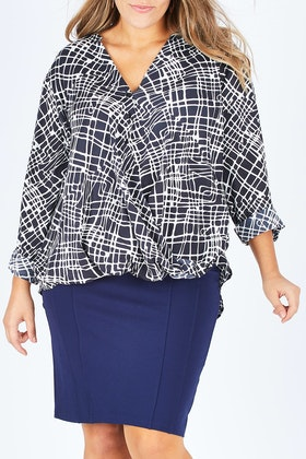 bird by design The Crossover Button Blouse