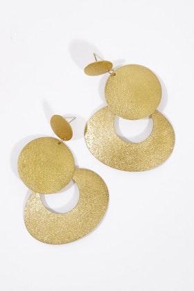 Zoda Circle Rings Earrings