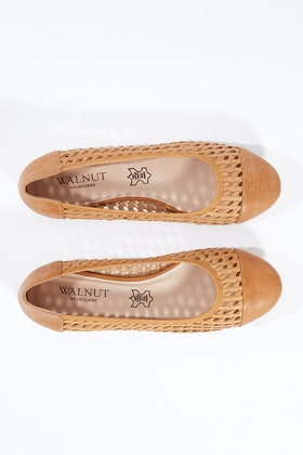 Walnut Ava Weave Flat