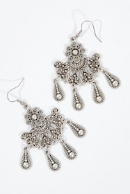 Shakti Silver Antique Earrings